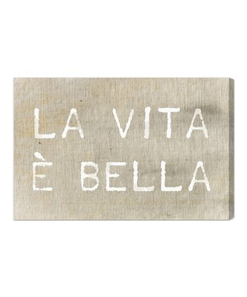 Life is Beautiful Canvas Wall Art