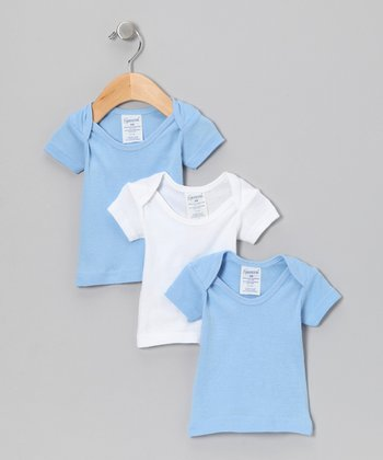 Blue & White Tee Set