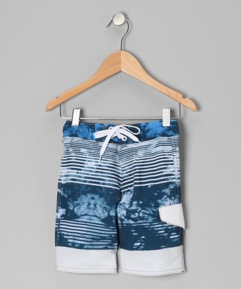 Steel Blue Cloud Boardshorts - Toddler & Boys