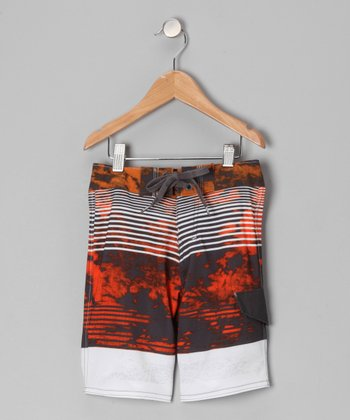 Tangerine Cloud Boardshorts - Toddler & Boys