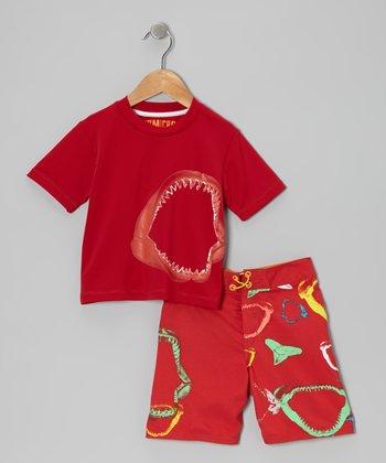 Micros Lollipop Rashguard & Boardshorts - Toddler & Boys