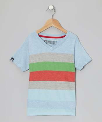 Baby Blue Stripe Henley - Toddler & Boys
