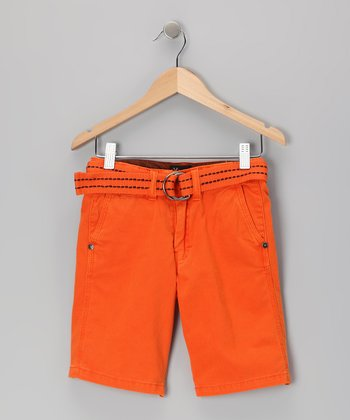 Burnt Orange Shorts - Toddler & Boys