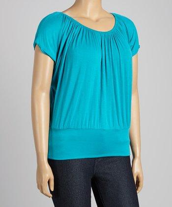 Turquoise Dolman Top - Plus