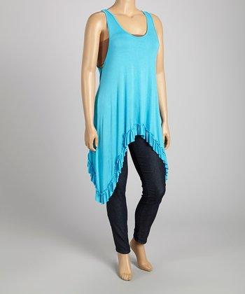 Light Blue Sidetail Tunic - Plus