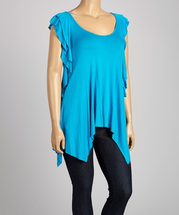 Blue Angel-Sleeve Top - Plus