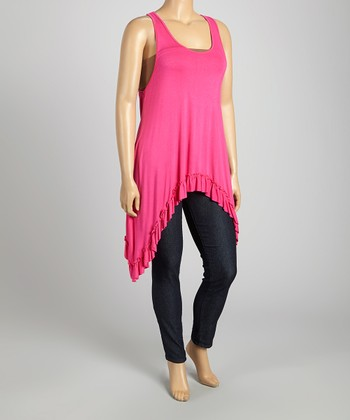 Pink Sidetail Tunic - Plus