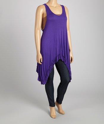 Purple Sidetail Tunic - Plus
