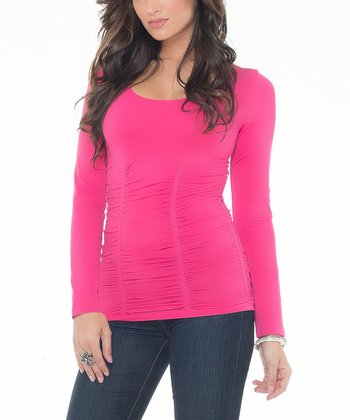 Haute Pink Ruched Tee