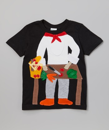 Black & Orange Chef Tee - Infant, Toddler & Boys