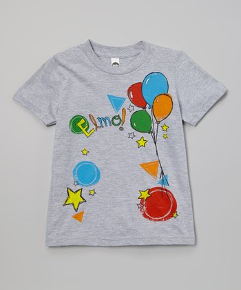 Gray 'Elmo' Balloons Tee - Infant & Kids