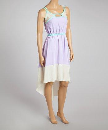 Wisteria Color Block Hi-Low Dress