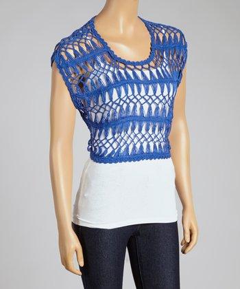 Royal Crochet Crop Top