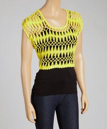 Yellow Crochet Crop Top