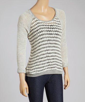 Ash Stripe Raglan Sweater