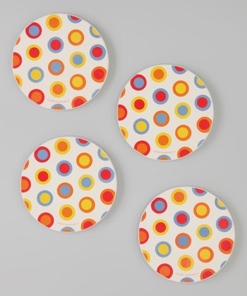 CounterArt Hot Dot Coaster - Set of Four