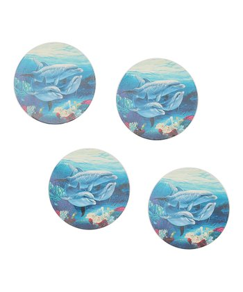 CounterArt Dolphin Lovers Coaster - Set of Four