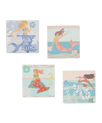 CounterArt Mermaids Coaster Set