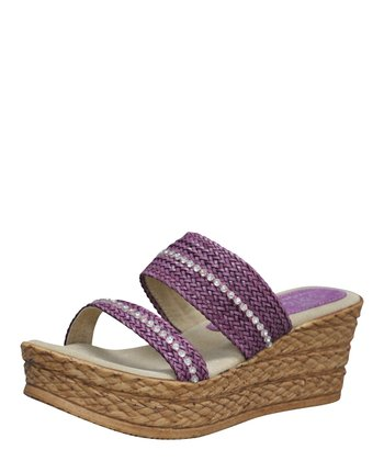 Purple Aimee Wedge Sandal
