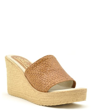 Cognac Leather Beth Espadrille