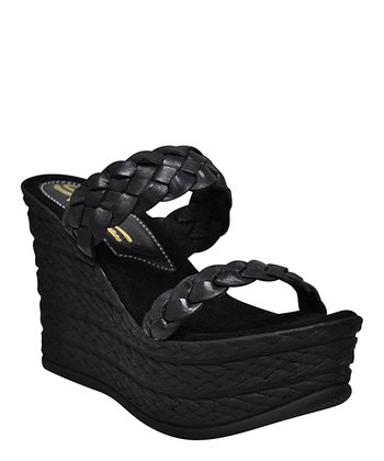 Black Cabrillo Wedge Sandal