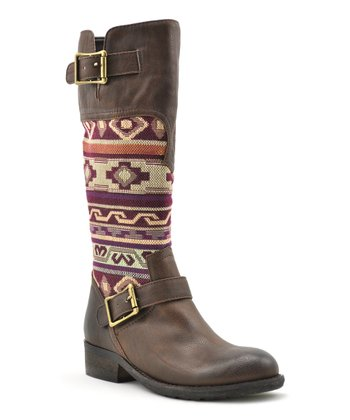 Brown & Red Deal Boot