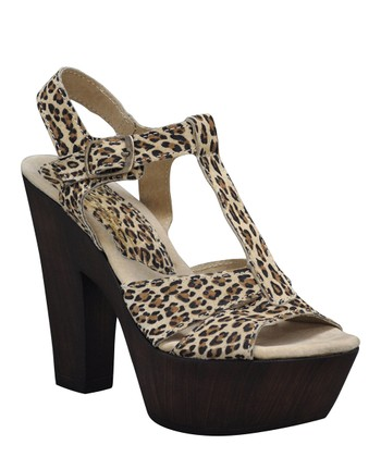 Tan Leopard Kingston Platform Sandal