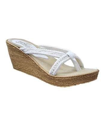 White Luxury Wedge Sandal