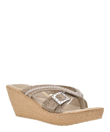 Taupe Sundown Wedge Sandal