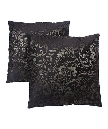 Black & Silver Pillow - Set of Two