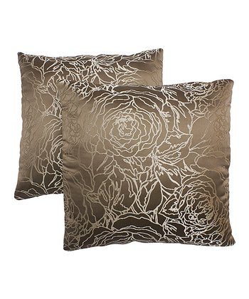 Taupe Pillow - Set of Two