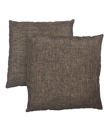 Mahogany & Brown Pillow - Set of Two