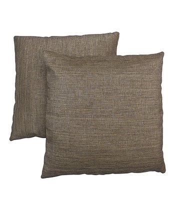 Tan & Brown Pillow - Set of Two
