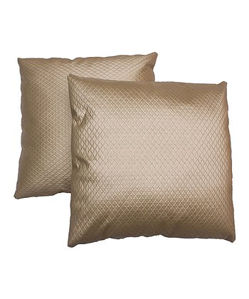 Gold Trellis Pillow - Set of Two
