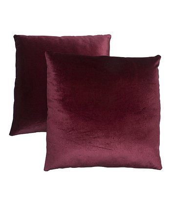 Burgundy Pillow - Set of Two