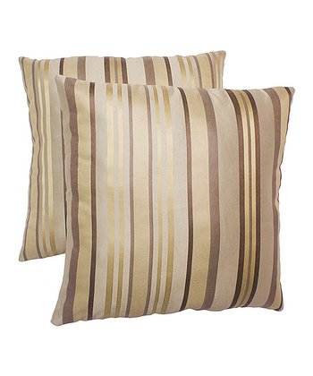 Cream Stripe Pillow - Set of Two