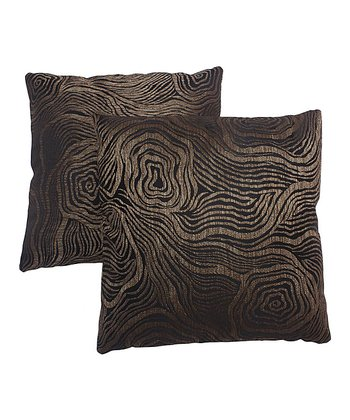 Brown Metallic Pillow - Set of Two
