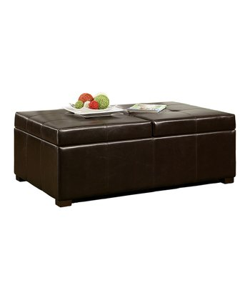 Dark Brown Frankfurt Storage Ottoman
