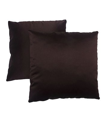 Dark Brown Pillow - Set of Two