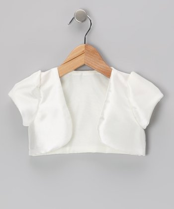 Ivory Satin Shrug - Infant, Toddler & Girls