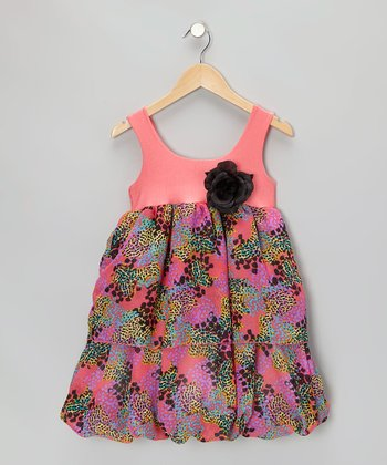 Coral Cheetah Dress - Infant, Toddler & Girls