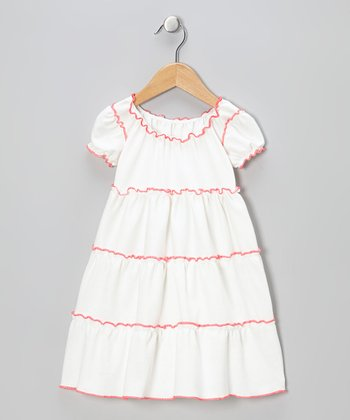 White Peasant Dress - Infant, Toddler & Girls
