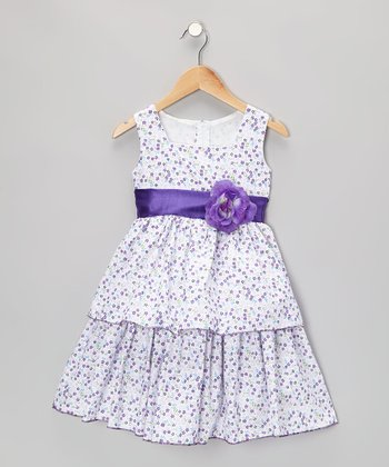 Purple Meadow Dress - Infant, Toddler & Girls