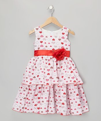 Red Heart Dress - Infant, Toddler & Girls