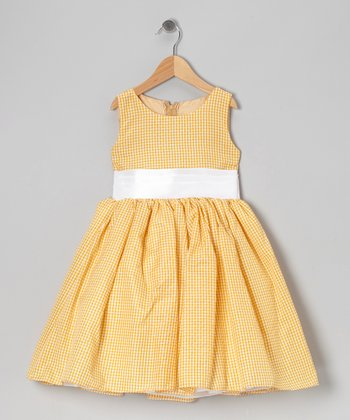 Yellow Gingham Bow Dress - Infant, Toddler & Girls