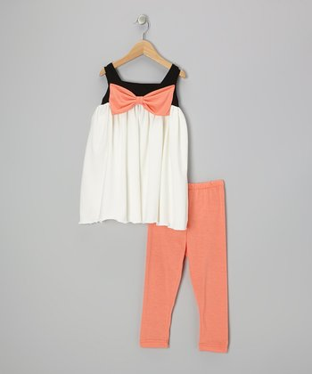 Coral Bow Tunic & Leggings - Infant, Toddler & Girls