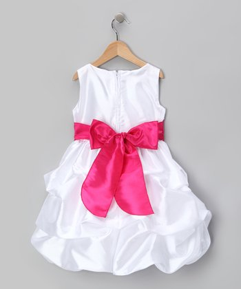Fuchsia Flower Pickup Dress - Infant, Toddler & Girls