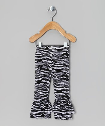 Zebra Lace Ruffle Leggings - Infant, Toddler & Girls