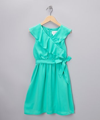 Jade Surplice Dress
