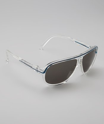 Clear & Blue Pilot Sunglasses